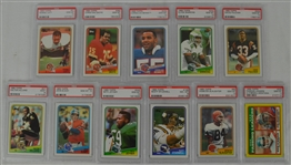 1988 Topps Football Collection of 11 PSA Graded Cards