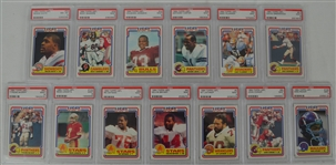 1984 Topps USFL Football Collection of 13 PSA Graded Cards w/Reggie White Rookie