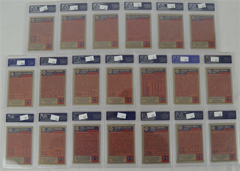1985 Topps Football Collection of 20 PSA Graded Cards