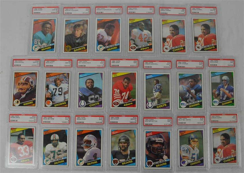 1984 Topps Football Collection of 20 PSA Graded Cards