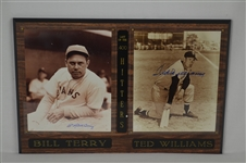 Bill Terry & Ted Williams Dual Signed B/W Photo