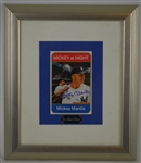 Mickey Mantle Autographed Mickey at Night LE Card Greer Johnson Collection
