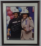 "Joe Torre & Rudy Giuliani Autographed & Inscribed ""God Bless America WS Champs 96, 98, 99, 00"""