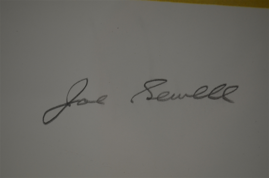 Joe Sewell Autographed Christopher Paluso Limited Edition Lithograph