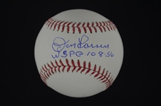 Don Larsen Autographed & Inscribed WSPG 10-8-56 Baseball