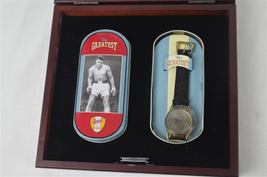 Muhammad Ali The Greatest Autographed Limited Edition Collectors Watch Set w/Original Box