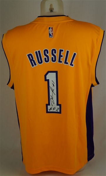 D'Angelo Russell Autographed LA Lakers Jersey