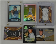 Phil Hughes Lot of 6 Autographed Insert Cards