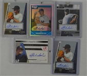Joba Chamberlain Lot of 5 Autographed Rookie Insert Cards