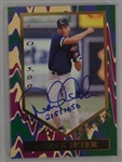 Derek Jeter 1995 Autographed Limited Edition Card #215/1050