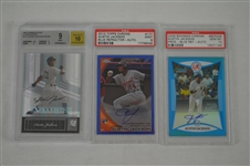 Austin Jackson Lot of 3 Autographed BGS Graded Cards