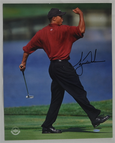 Tiger Woods Autographed 16x20 Photo UDA