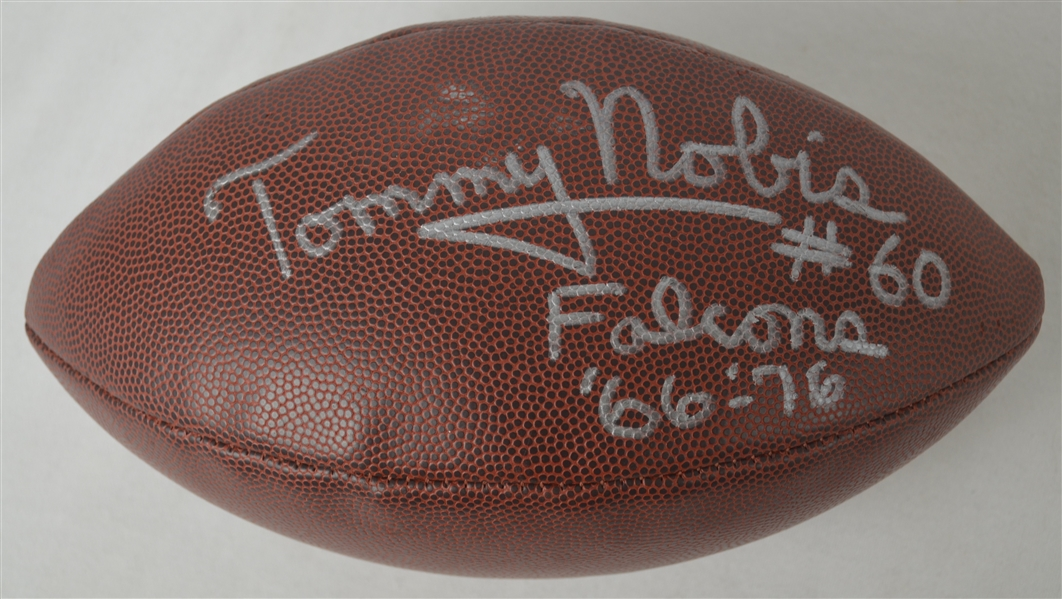 Tommy Nobis Autographed & Inscribed Football