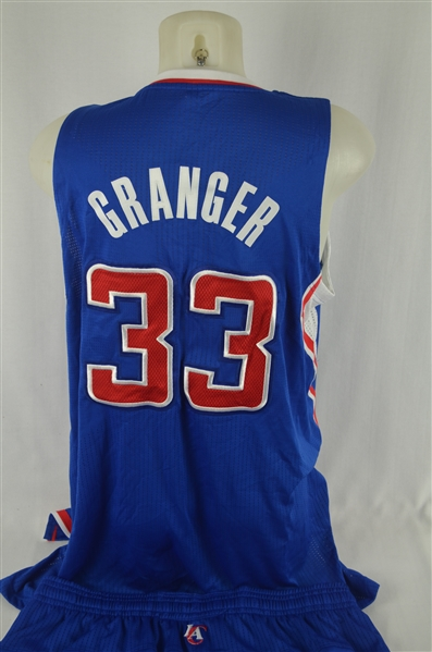 Danny Granger 2013-14 LA Clippers Professional Model Uniform w/Medium Use