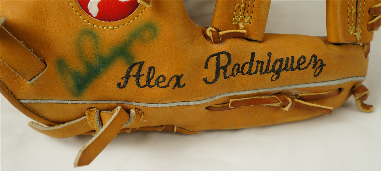 Alex Rodriguez c. 1996-2000 Seattle Mariners Professional Model Glove w/Heavy Use