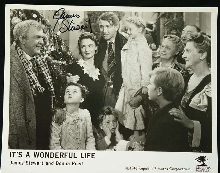 Vintage Lot of 3 Autographed Photos w/Jimmy Stewart It's A Wonderful Life