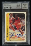 Michael Jordan 1986 Fleer Autographed Rookie Sticker Card BGS 8.5 & 9 w/UDA COA