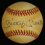 Mickey Mantle Vintage Autographed OAL Lee MacPhail Baseball