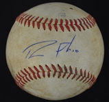 Dustin Fowler New York Yankees Game Used Autographed Baseball