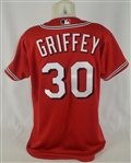 Ken Griffey Jr c. 2003-04 Cincinnati Reds Professional Model Jersey w/Light Use