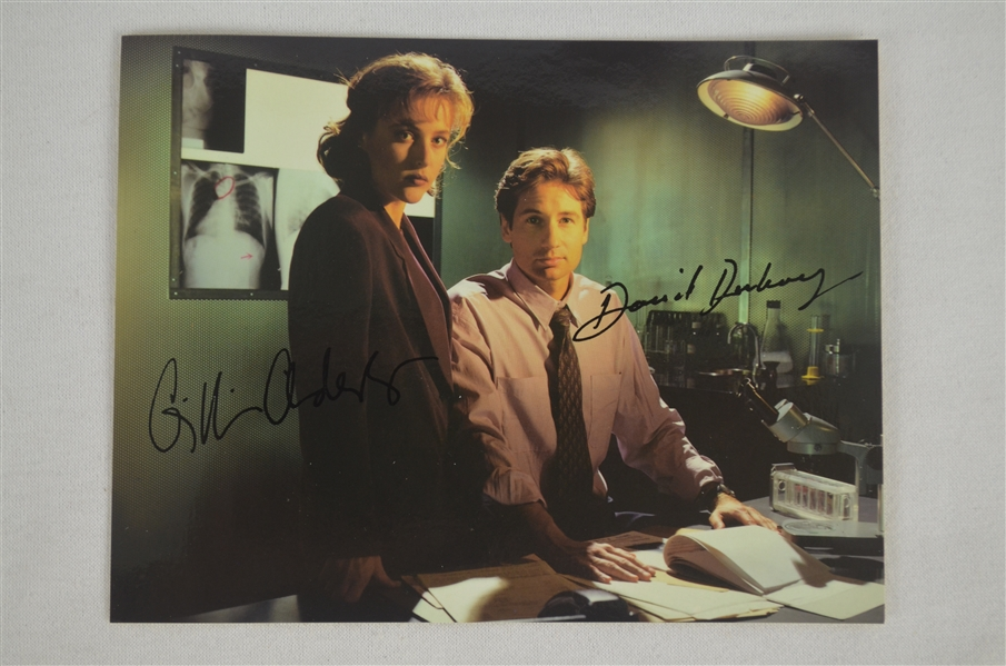 Lot of 2 X-Files Autographed Photos