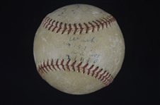 1952 Boston Red Sox Game Used Baseball From 9/26/1952