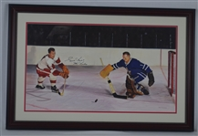 Gordie Howe Original James Fiorentino Painting Signed by Both w/LOA From Artist