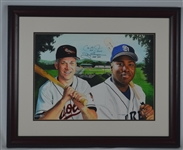 Cal Ripken & Tony Gwynn Original James Fiorentino Painting Signed by Both w/LOA From Artist