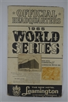 Rare 1965 World Series LA Dodgers vs Minnesota Twins Leaminton Hotel Display