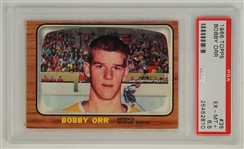Bobby Orr 1966 Topps Rookie Card #35 PSA 6.5 EX/MT+