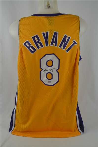 Kobe Bryant Rookie Autographed Los Angeles Lakers Jersey PSA/DNA