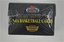 Rare 1992-93 Members Only NBA Stadium Club Factory Sealed Card Set