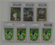 Derek Jeter Lot of 7 BGS Graded Baseball Cards