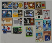 Collection of 19 Autographed Game Used Jersey & Bat Cards