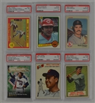 Collection of 6 PSA Graded Baseball Cards