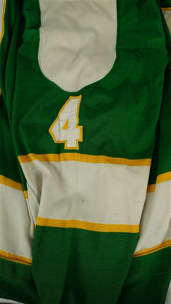 Ted Harris c. 1970-72 Minnesota North Stars Professional Model Jersey w/Heavy Use