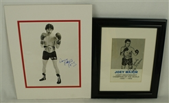 Boxing Lot of 2 Autographed Photos