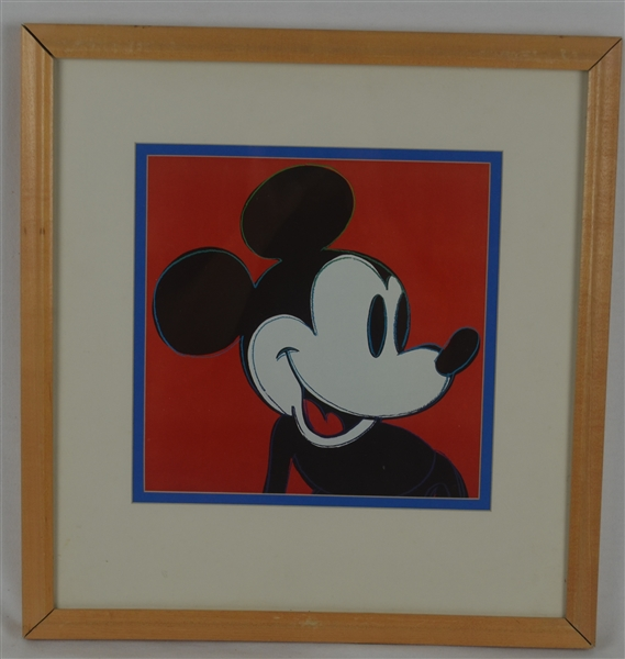 Rare Mickey Mouse Walt Disney Framed Print w/Disney LOA