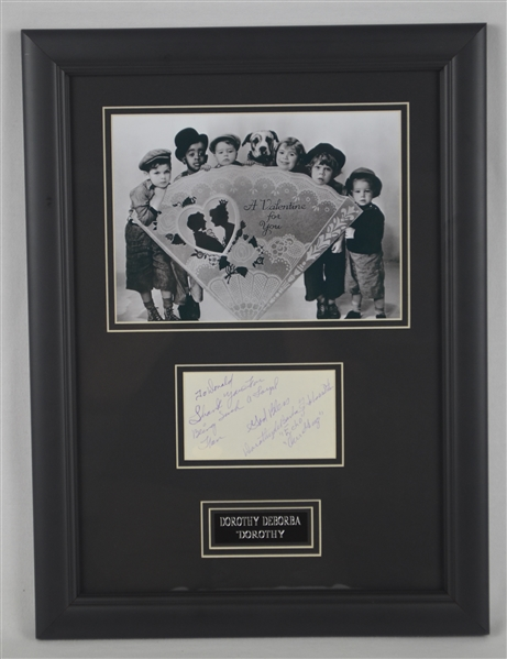 Dorothy DeBorba Little Rascals Autographed Display