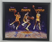 Los Angeles Lakers Autographed Photo w/Magic Johnson