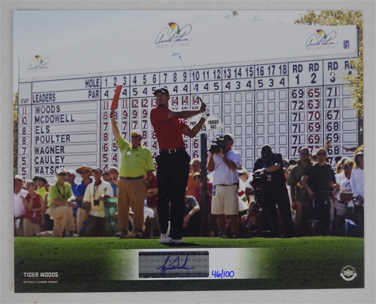 Tiger Woods Autographed Photo UDA