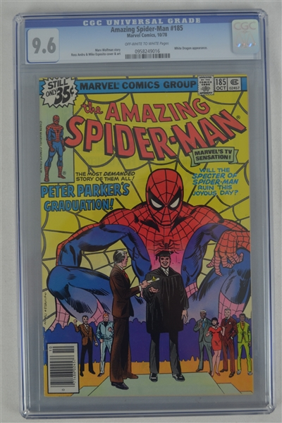 The Amazing Spider-Man #185 October 1978 CGC 9.6