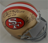 Joe Montana Steve Young & Jerry Rice Autographed & Multi Inscribed SF 49ers Helmet