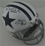 Troy Aikman Emmitt Smith & Michael Irvin Autographed & Inscribed Dallas Cowboys Helmet