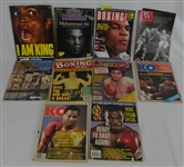 Joe Frazier Collection of 10 Personal Boxing Magazines w/Muhammad Ali