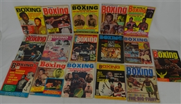 Joe Fraziers Collection of 16 Vintage 1970s Boxing Magazines Signed by Emile Griffith
