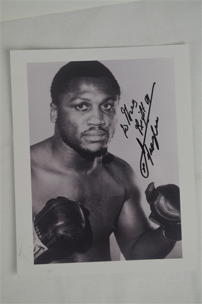 Collection of 10 Joe Frazier & Marvis Frazier Autographed Photos