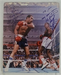 Joe Fraziers Personal 16x20 Photo Personailzed to Joe by Ken Norton & Larry Holmes