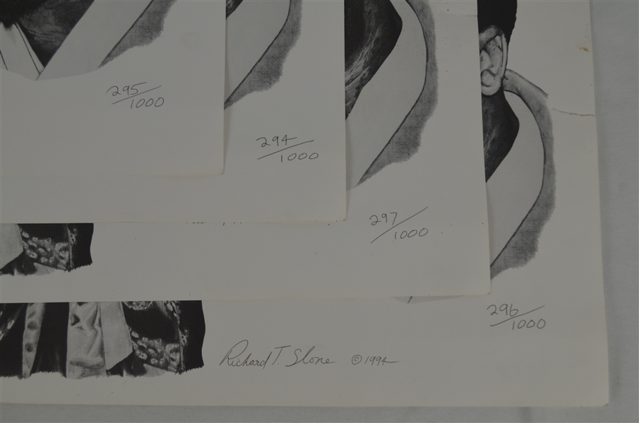 Joe Frazier Lot of 4 Autographed 1994 Limited Edition Lithographs