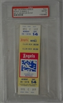 Don Baylor 187th HR 1981 Full PSA Graded Ticket